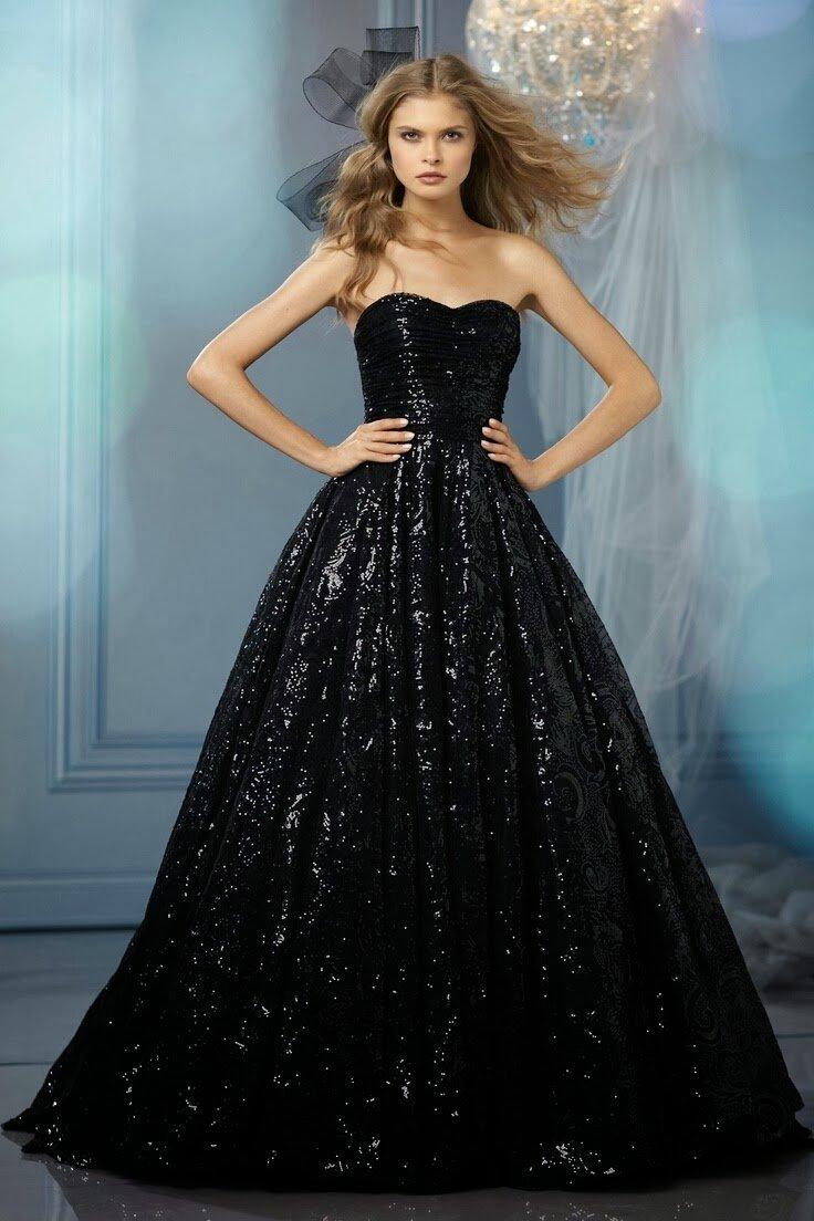 пышное платье блестящее фото