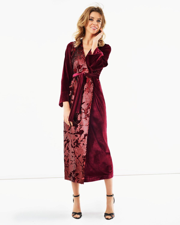 бархатное платье халат
