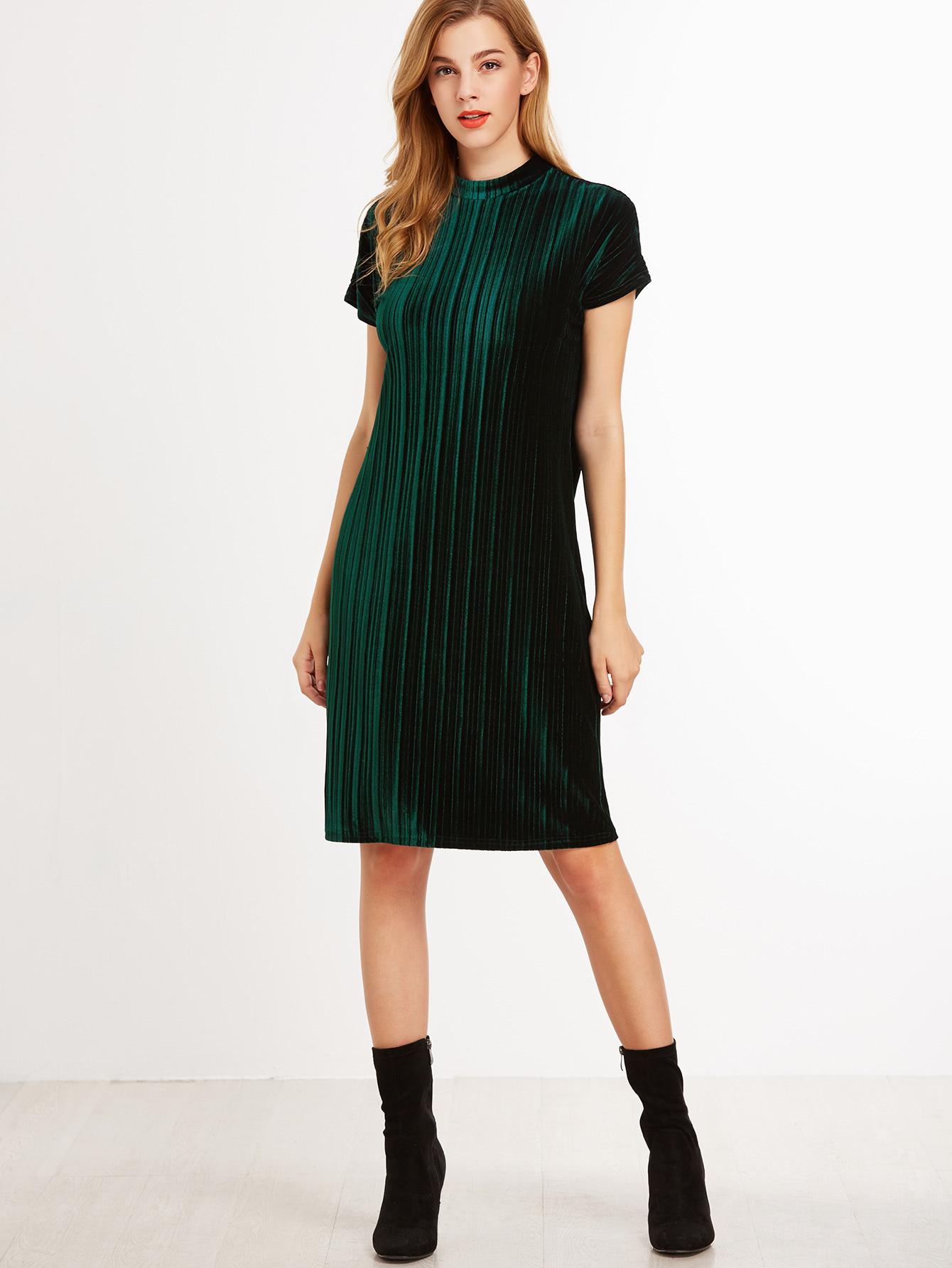 бархатное платье прямое