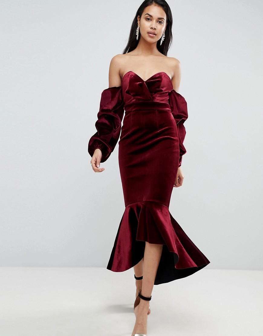 бархатное платье на выпускной
