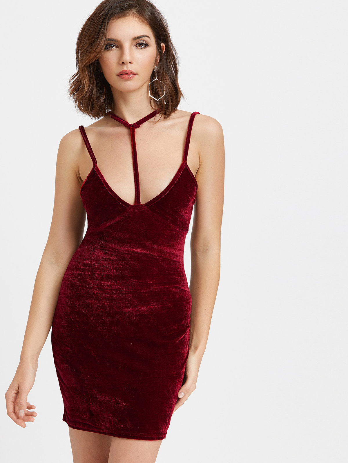 бархатное платье короткое
