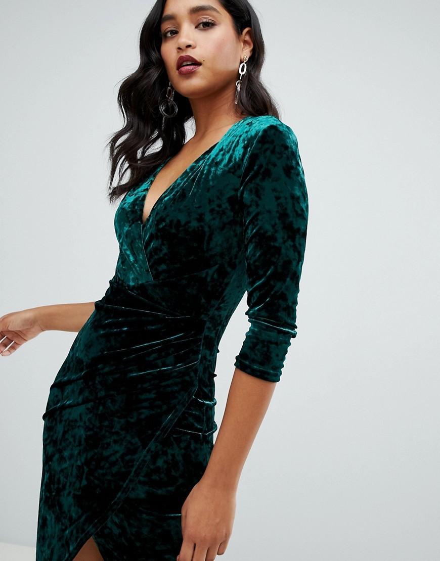 бархатное платье изумрудное