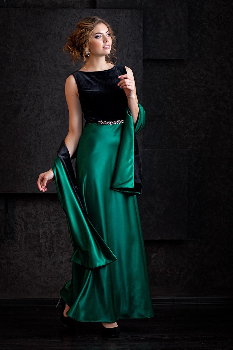 платье бархат и атлас