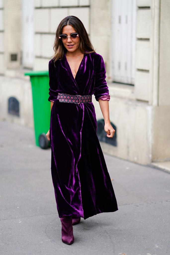платье бархат и сапоги