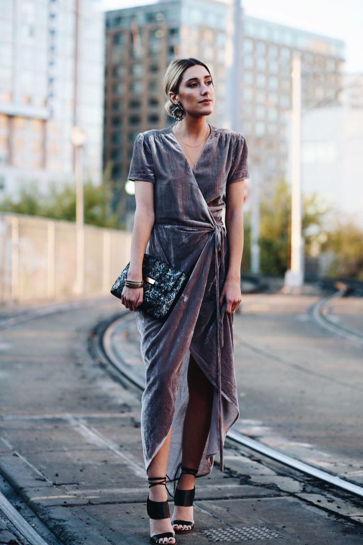 платье бархат и серьги
