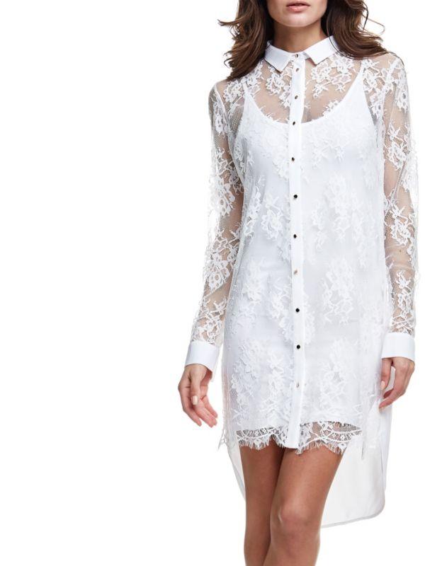 платье рубашка из гипюра