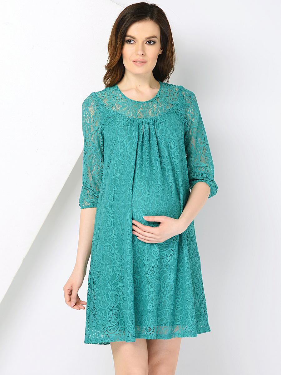 платье из гипюра для беременных трапеция