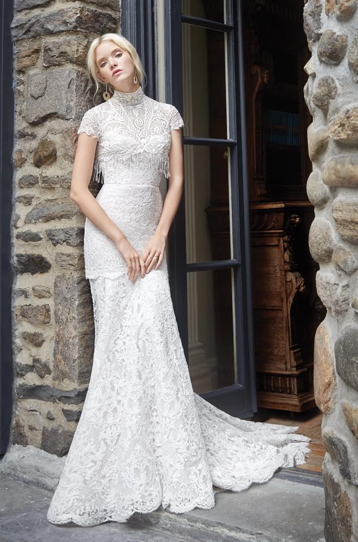 платье из гипюра свадебное рыбка