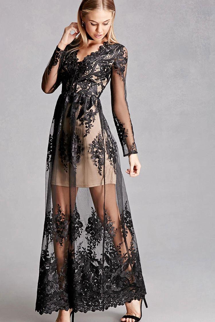платье из гипюра вечернее