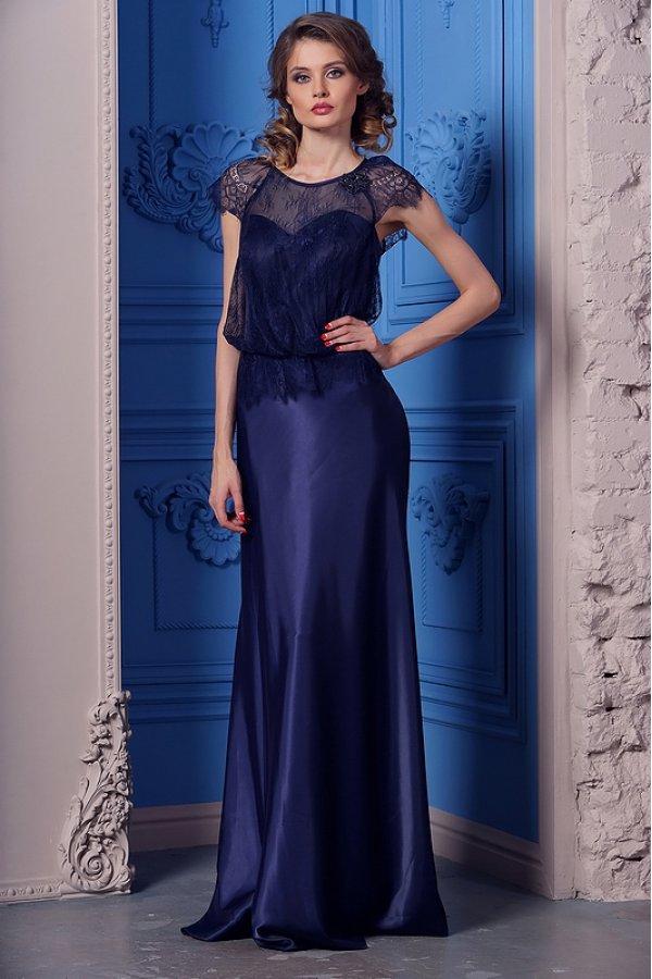 платье из гипюра вечернее длинное