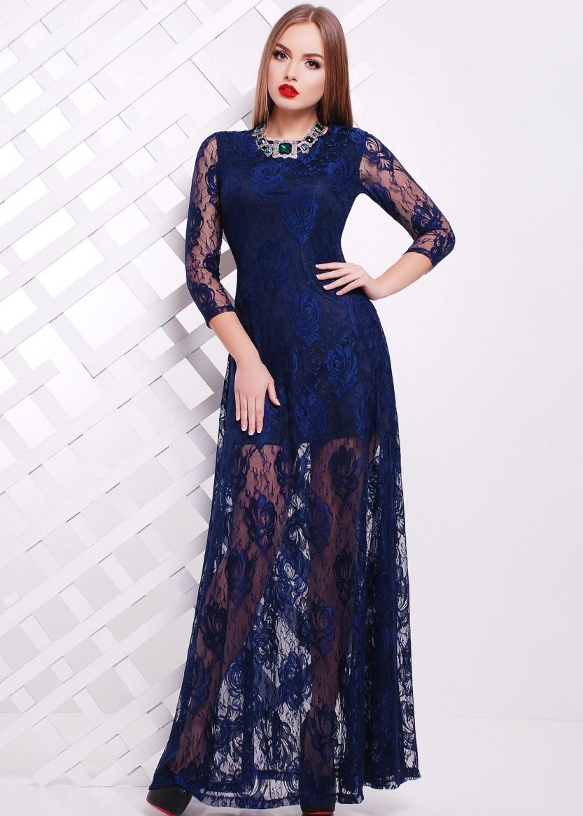 платье из гипюра длинное