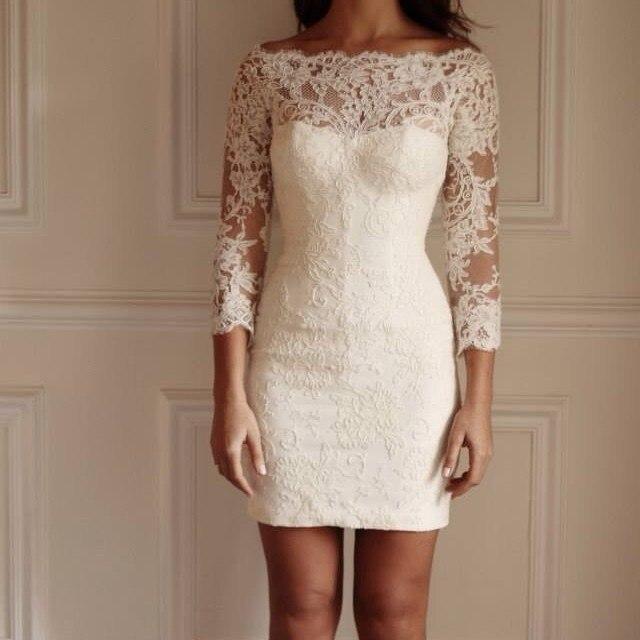 платье из гипюра короткое