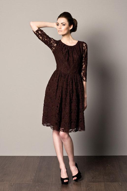 платье из гипюра миди