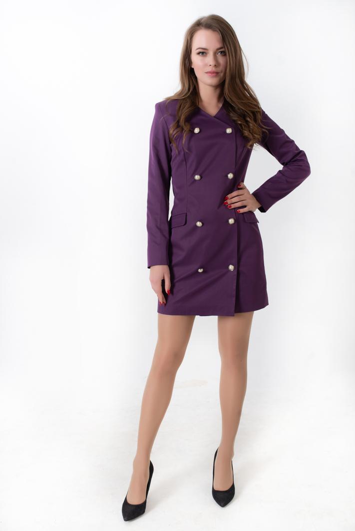 фиолетовое платье пиджак