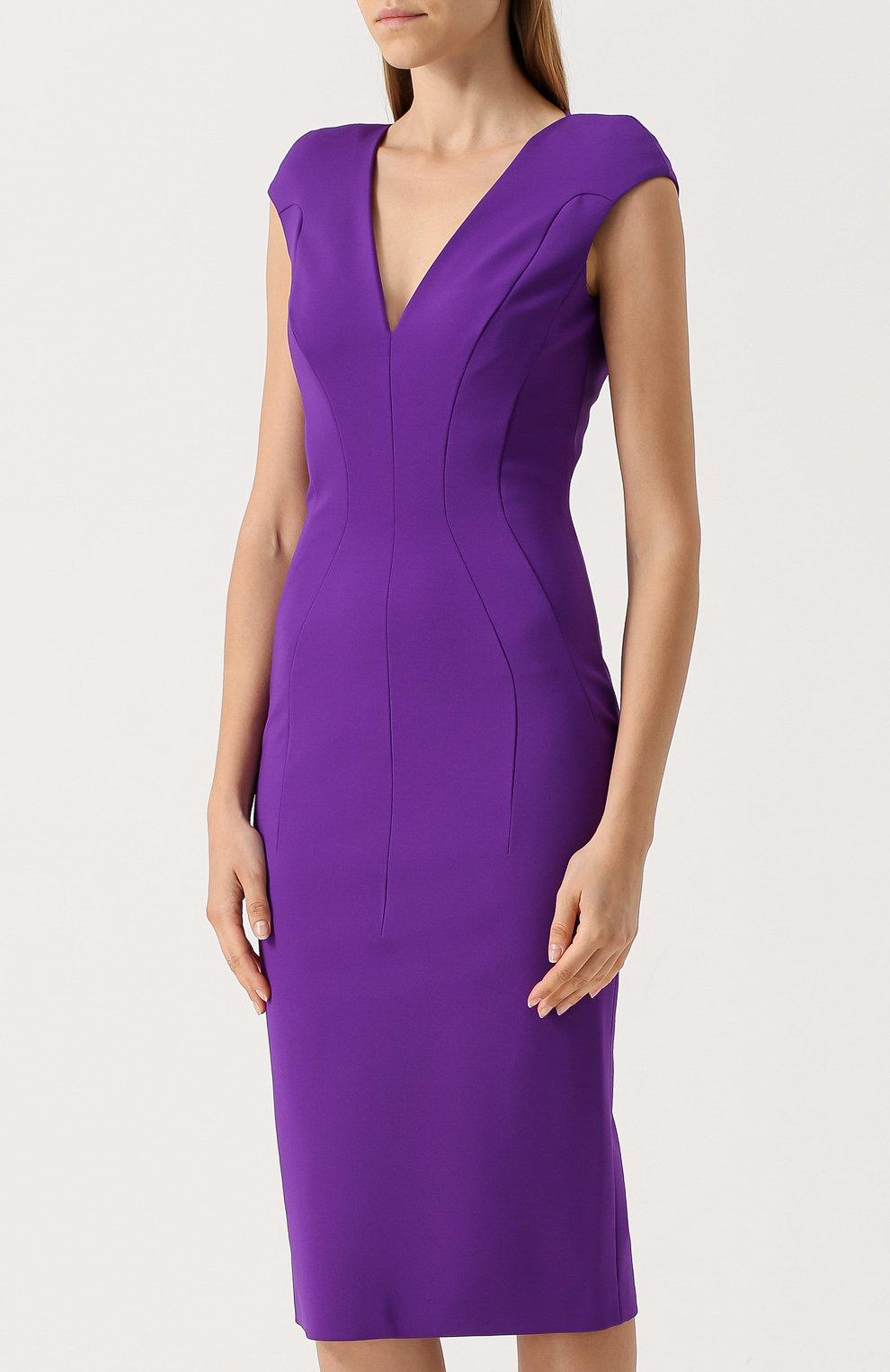 фиолетовое платье футляр