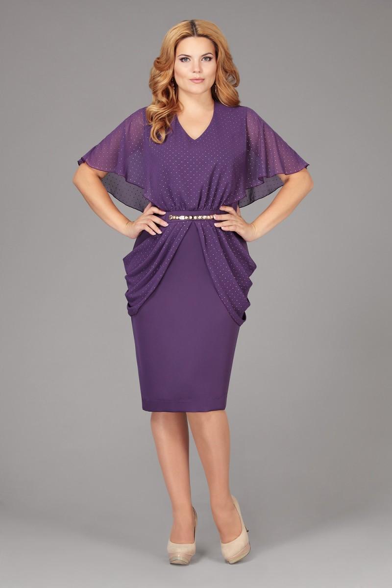 фиолетовое платье для полных