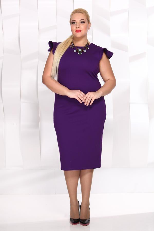 фиолетовое платье для полных футляр