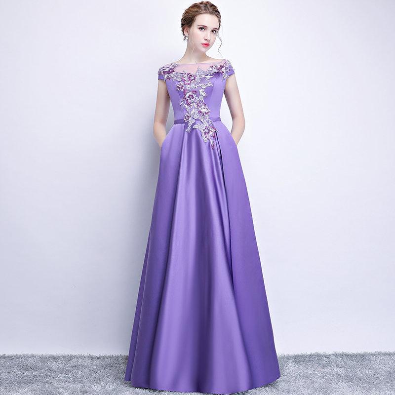 фиолетовое платье на выпускной