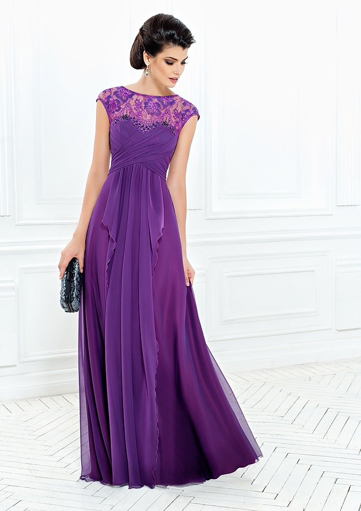 фиолетовое платье длинное