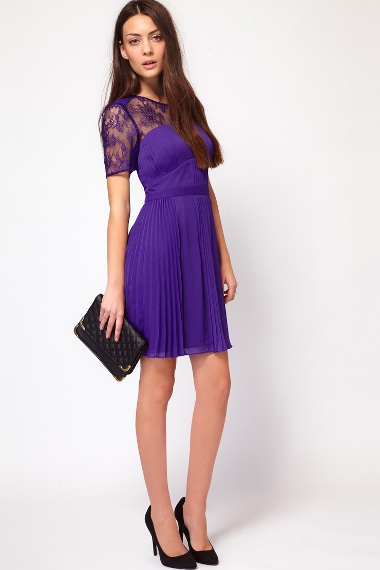 фиолетовое платье короткое