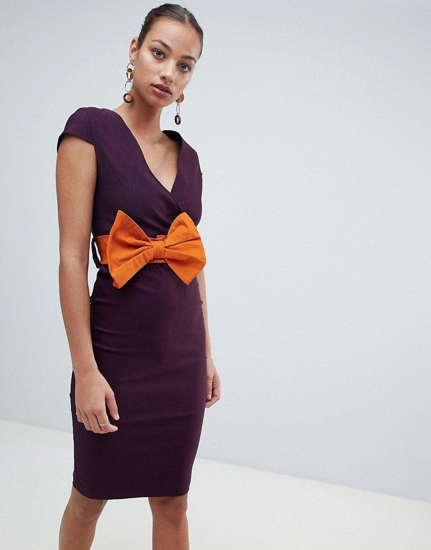 платье оранжево-фиолетовое