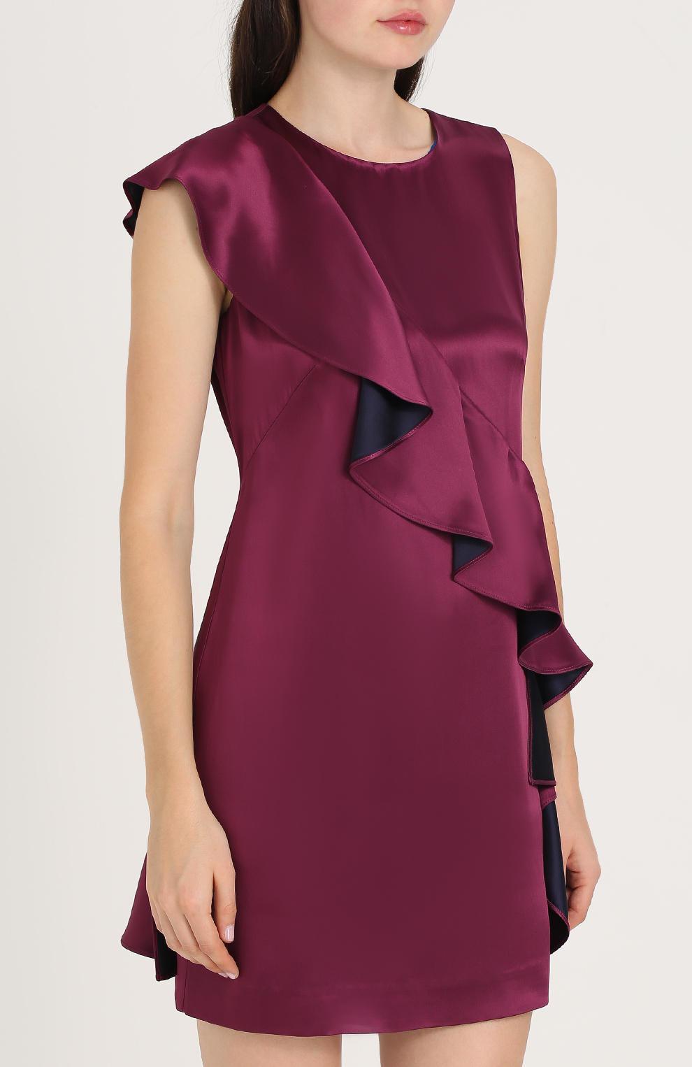 Фиолетово бордовое платье