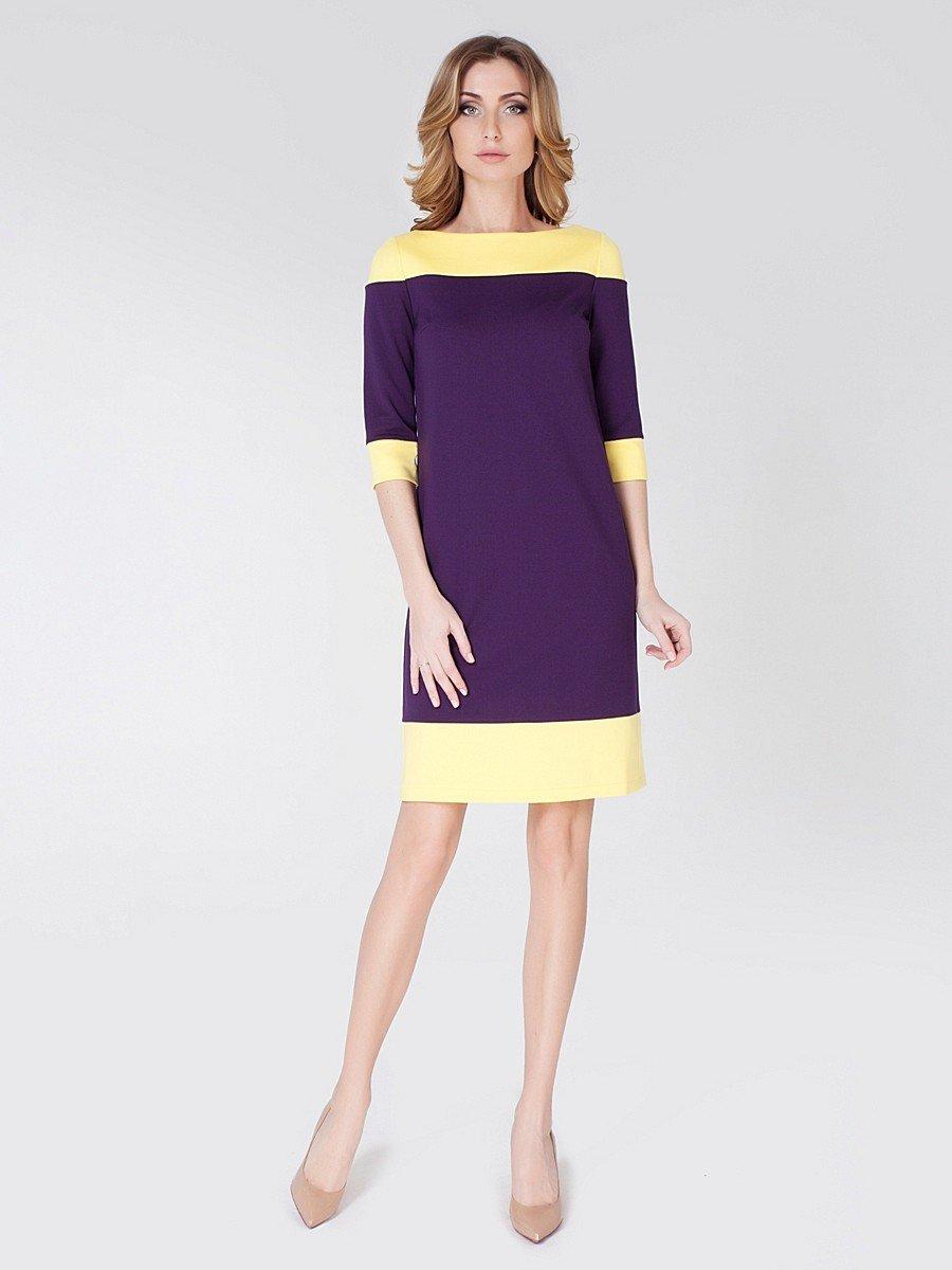 фиолетово желтое платье
