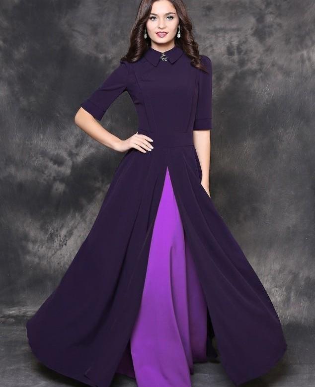 фиолетово лиловое платье