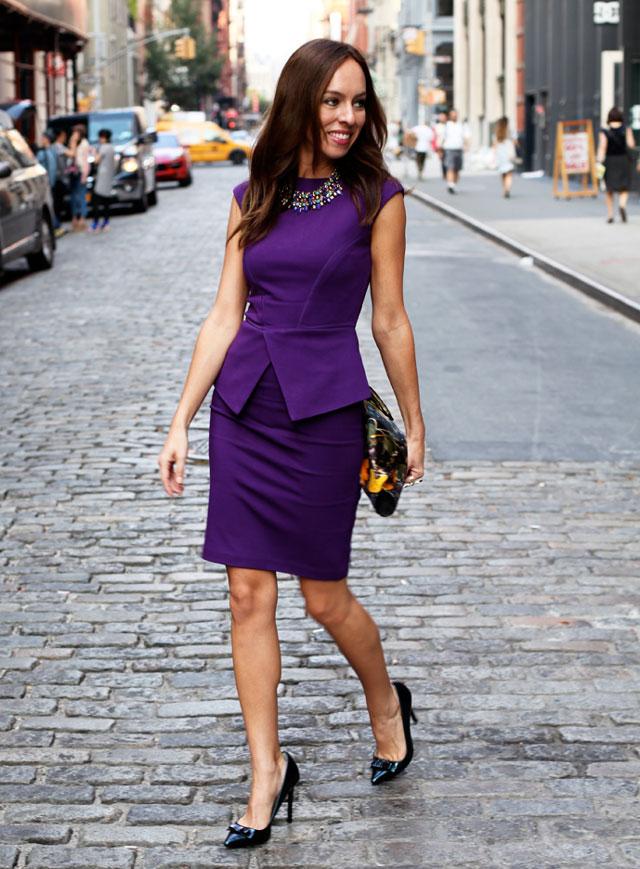 фиолетовое платье и туфли