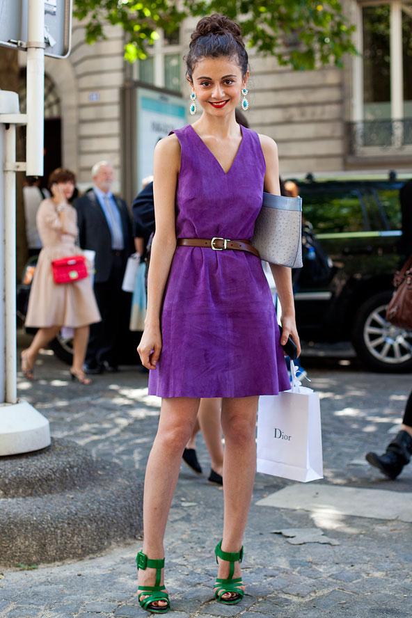 фиолетовое платье босоножки