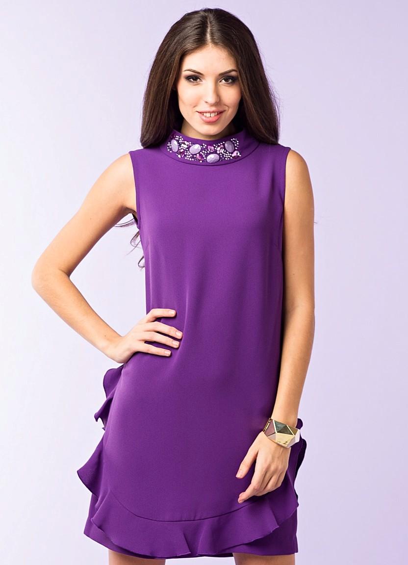 фиолетовое платье и браслет