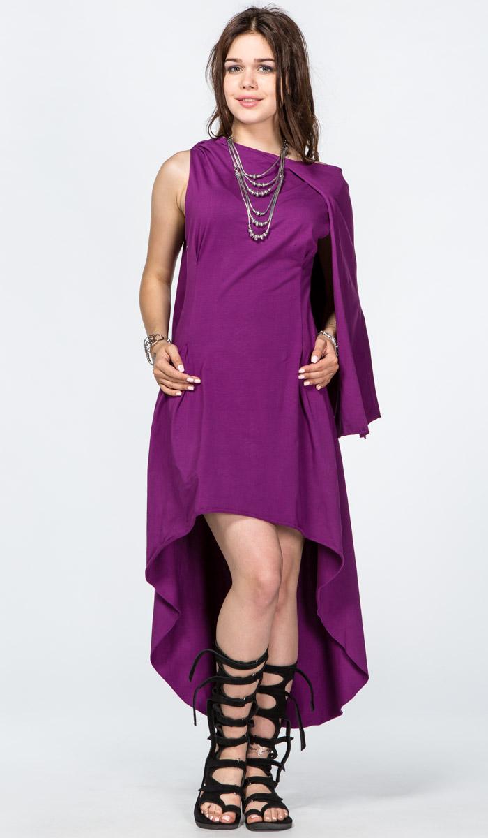 фиолетовое платье колье