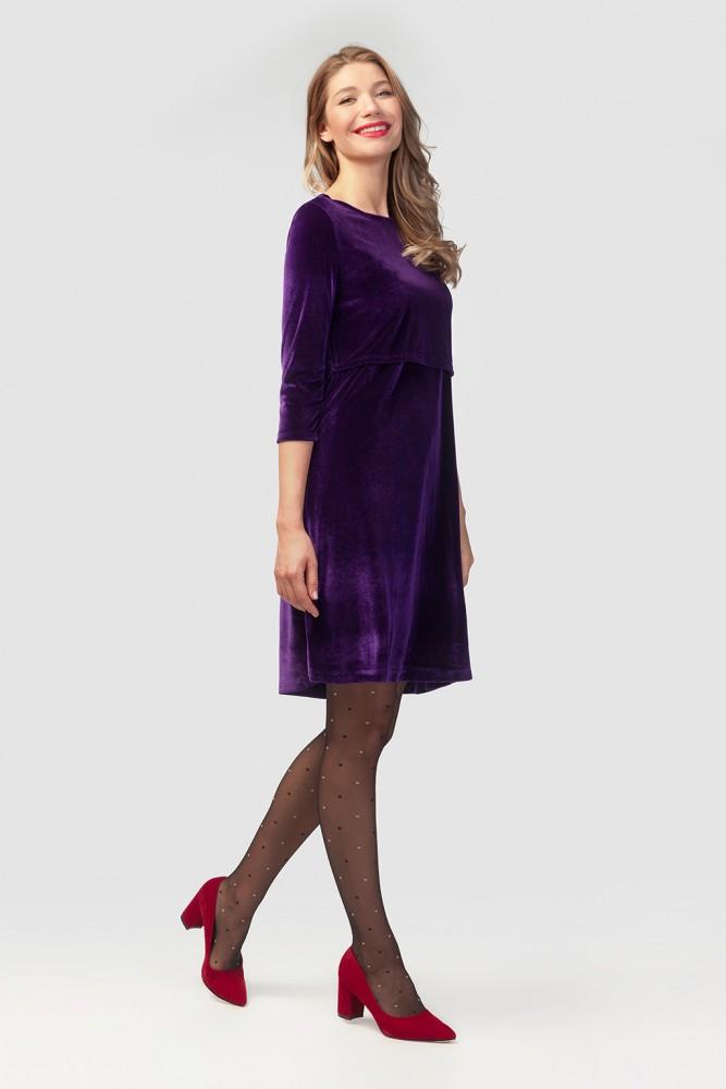 фиолетовое платье колготки