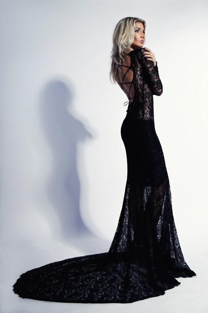 платье со шлейфом длинное