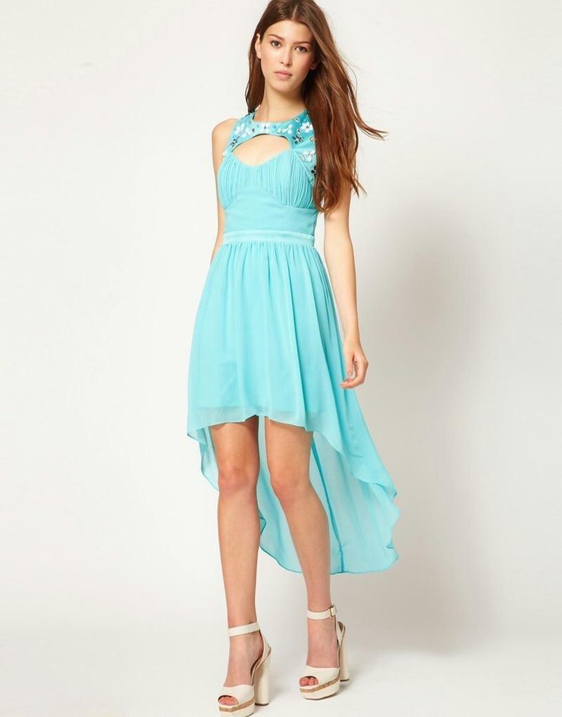 платье со шлейфом бирюзовое