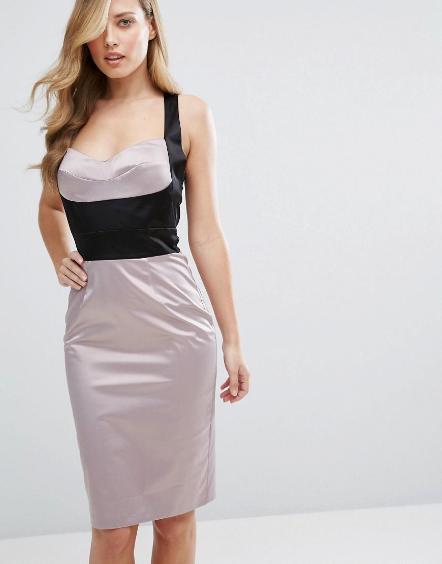 платье карандаш атлас