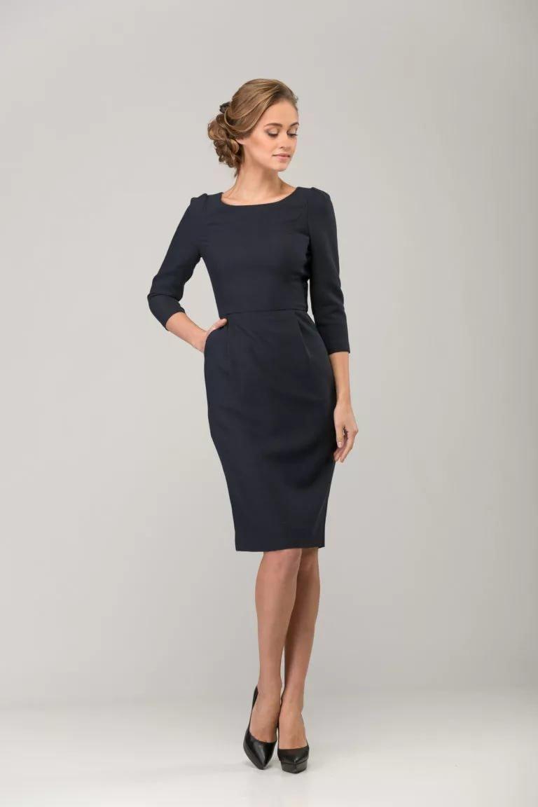 офисное платье футляр
