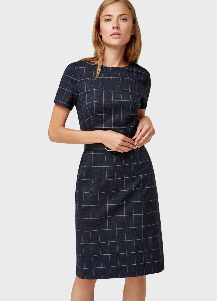 офисное платье в клетку