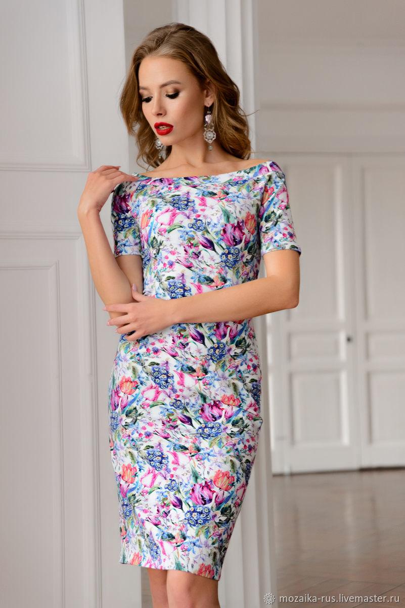 офисное платье цветочное