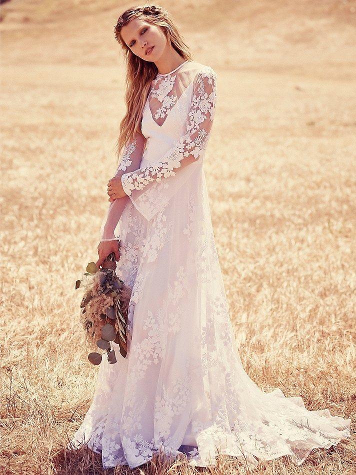 свадебное платье в стиле бохо фото
