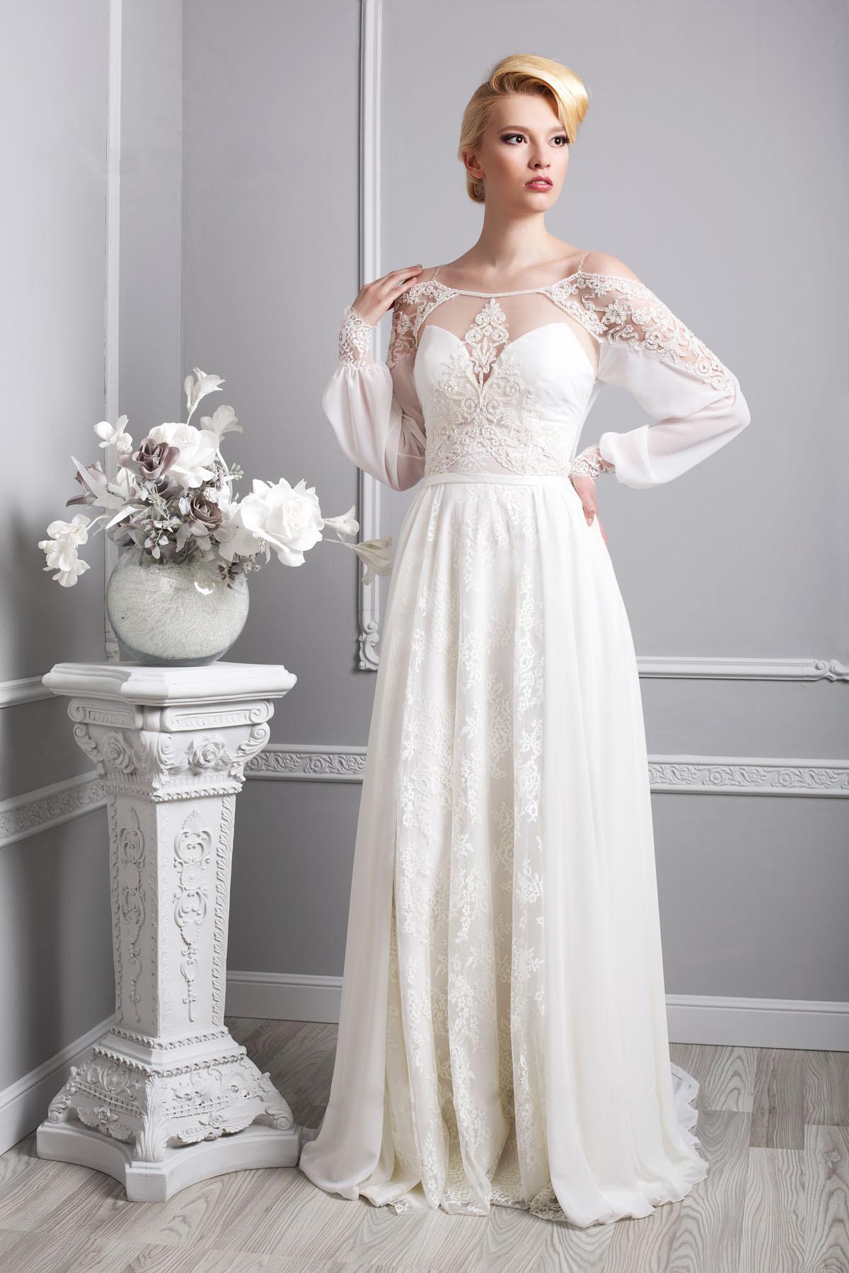 свадебное платье в стиле прованс фото