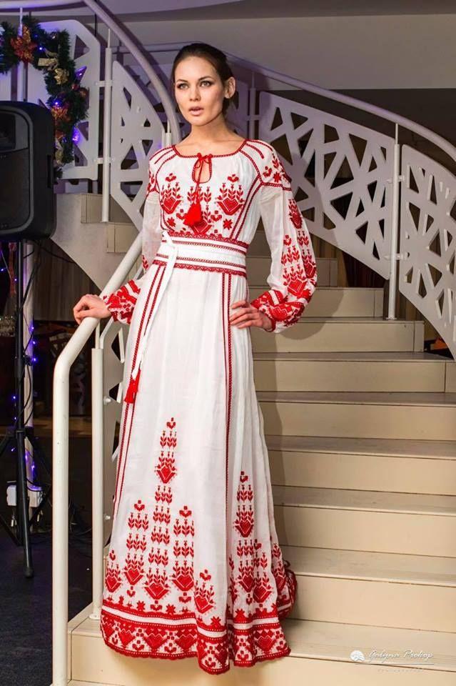 свадебное платье в стиле русском фото