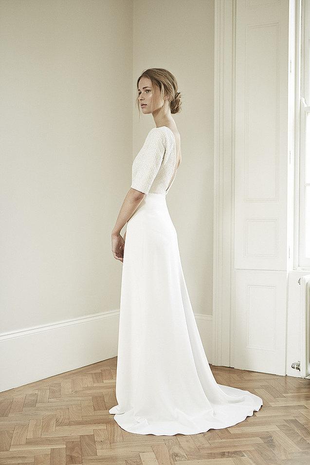 свадебное платье в стиле минимализм фото