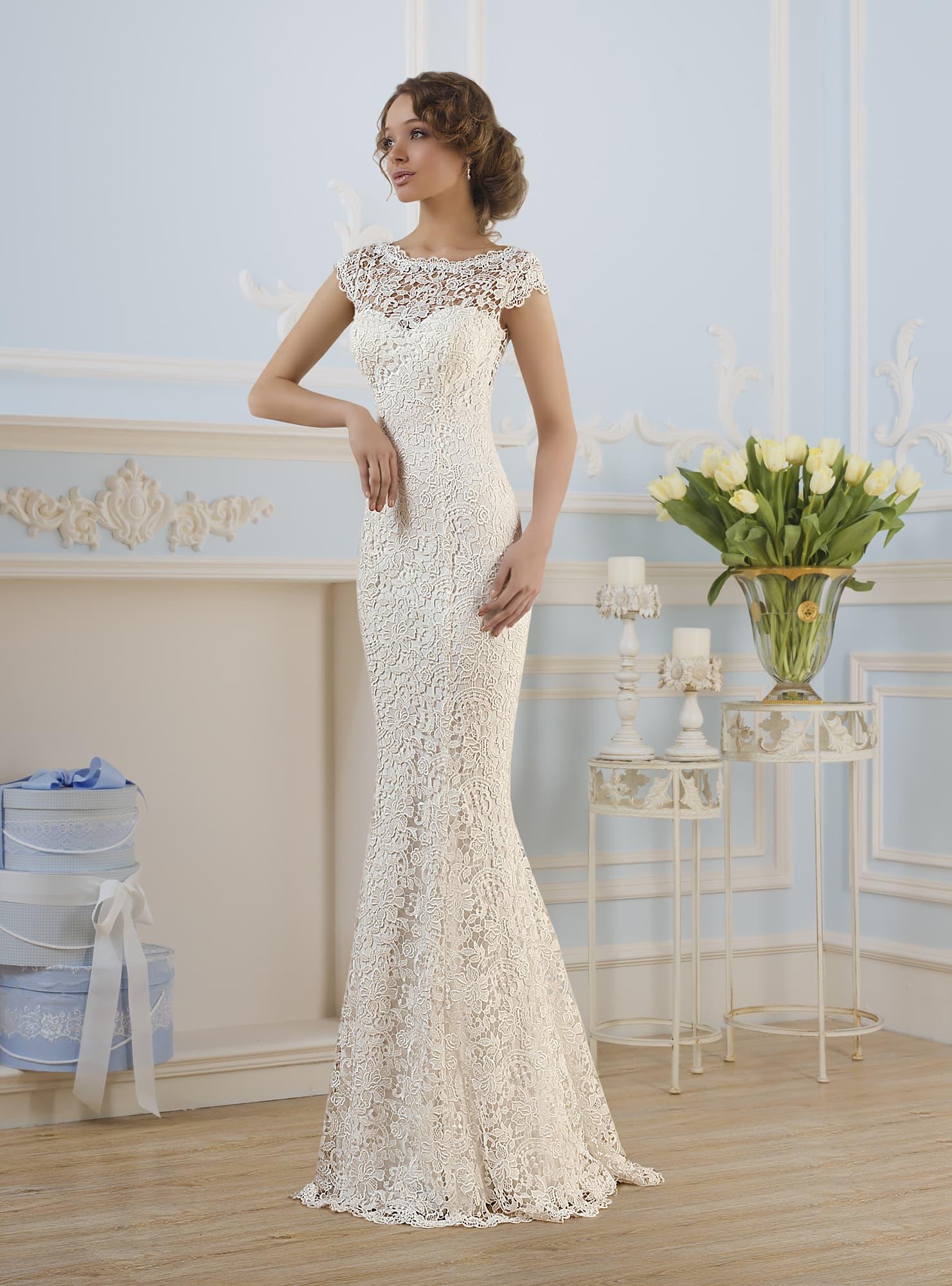 свадебные платье-рыбка фото