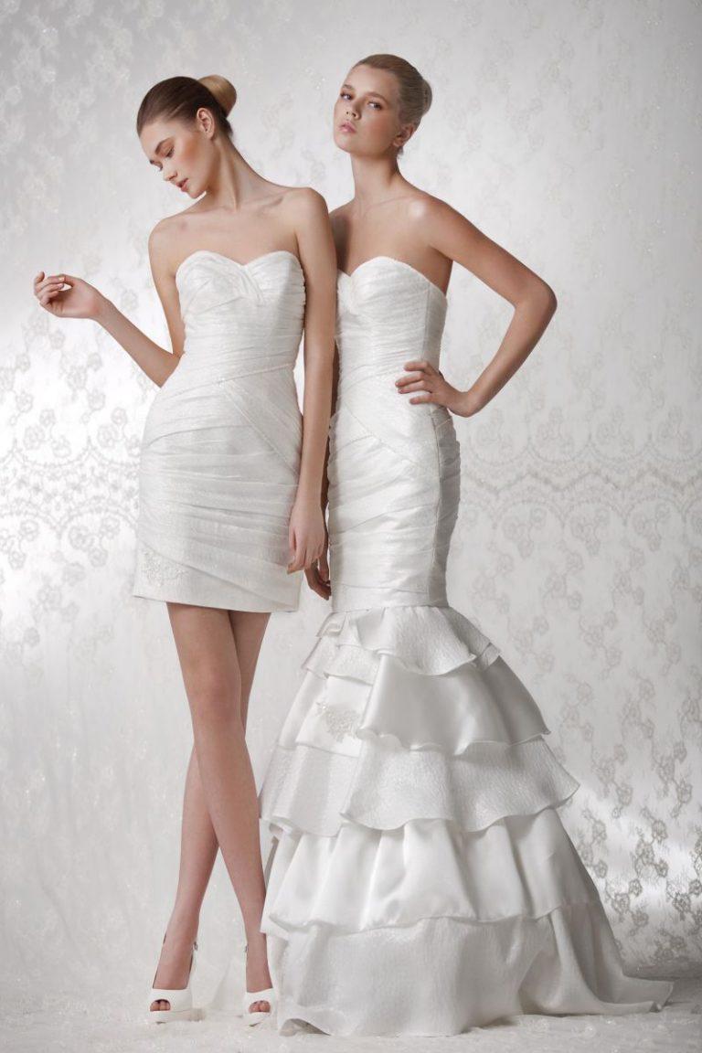 свадебные платье c отстегивающейся юбкой фото