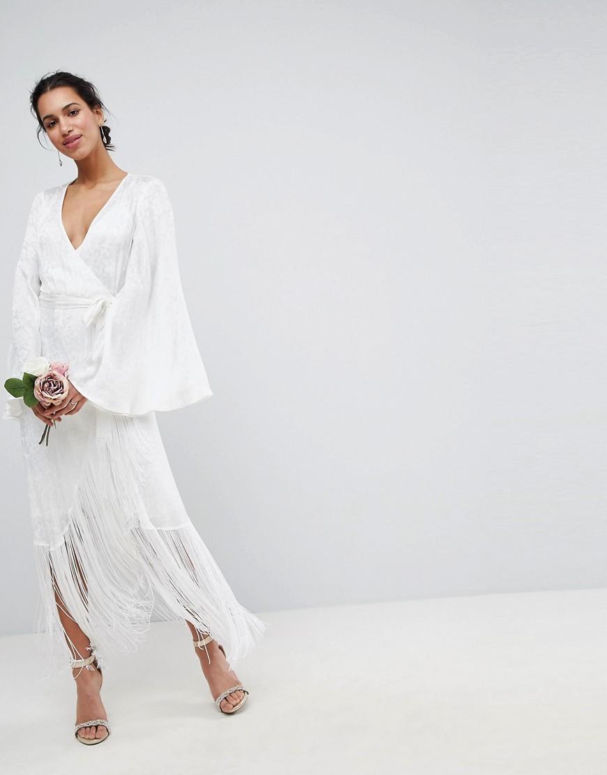 свадебные платья с запахом фото
