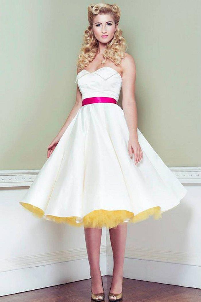 свадебные платья в стиле стиляги фото