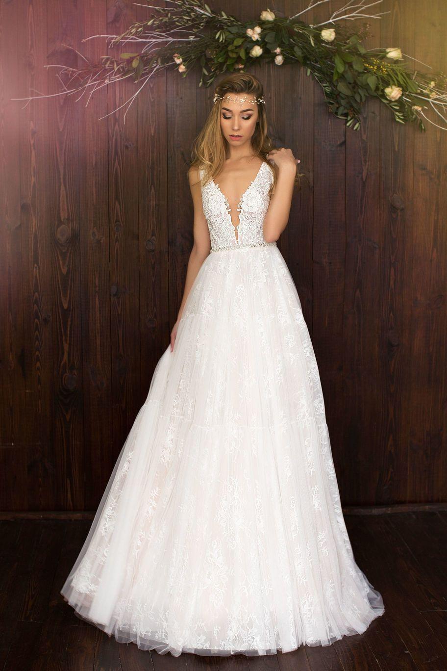 свадебное платье белое фото