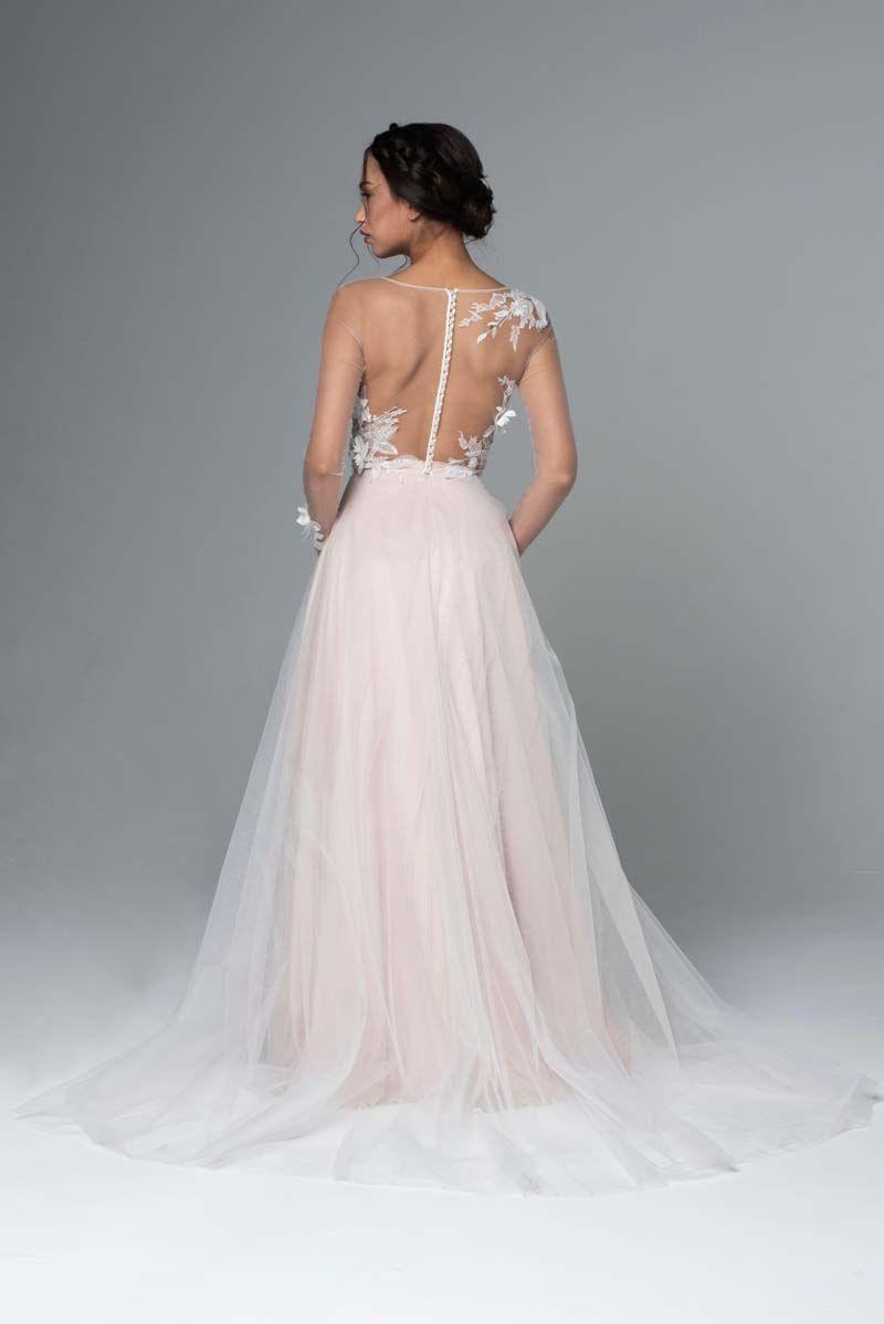 свадебное платье молочное фото