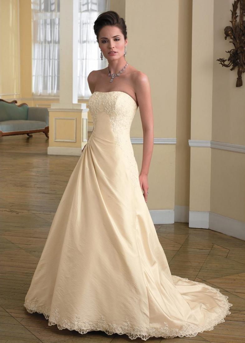 свадебное платье Цвета шампанского фото
